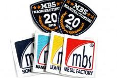 Petits écussons brodés rectangulaires MBS