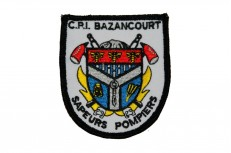 Écussons personnalisés sapeurs pompiers Bazancourt