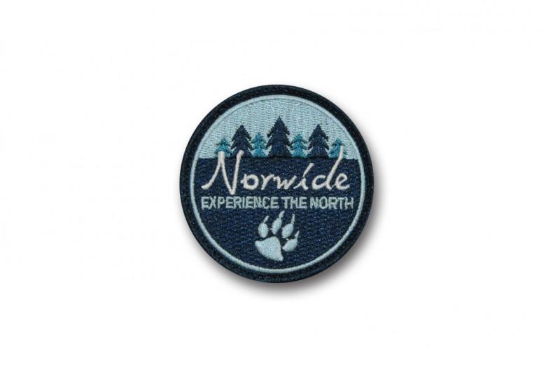 Écussons ronds brodés pour la société Norwide