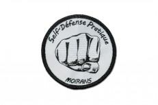 Broderie d'écusson rond avec bourdon américain pour un club de Self Defense