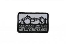Broderie d'écussons rectangulaires avec bourdon américain pour les professionnels de la montagne